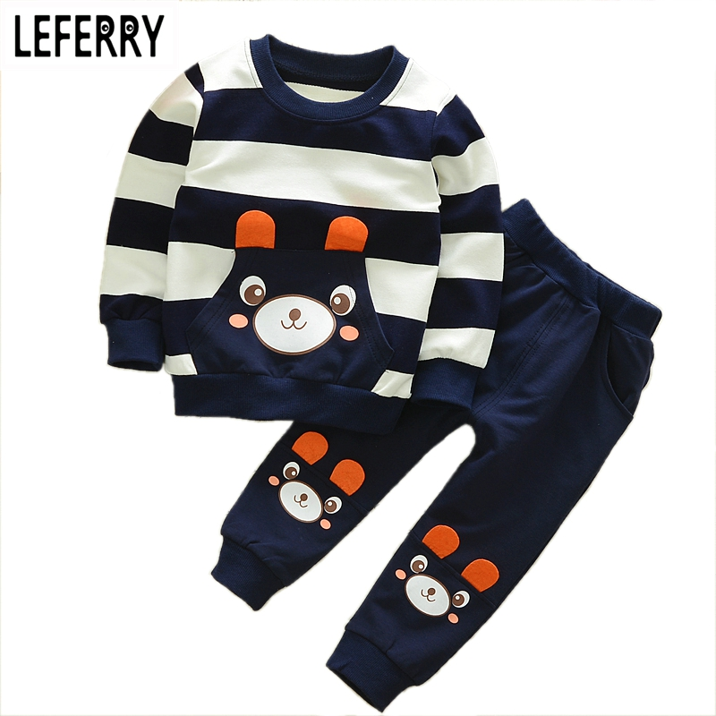 Bear Kids Clothes Baby Boys Clothing Set Toddler Boy Clothing Boutique Children Kleding Kids Boys Costume 2017 Spring Outfits baby boys clothes set 2pcs kids boy clothing set newborn infant gentleman overall romper tank suit toddler baby boys costume