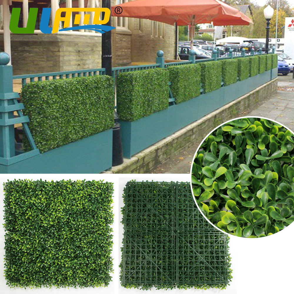 ULAND 25x25cm/pc Artificial Hedges UV Synthetic Pravicy Fence ...