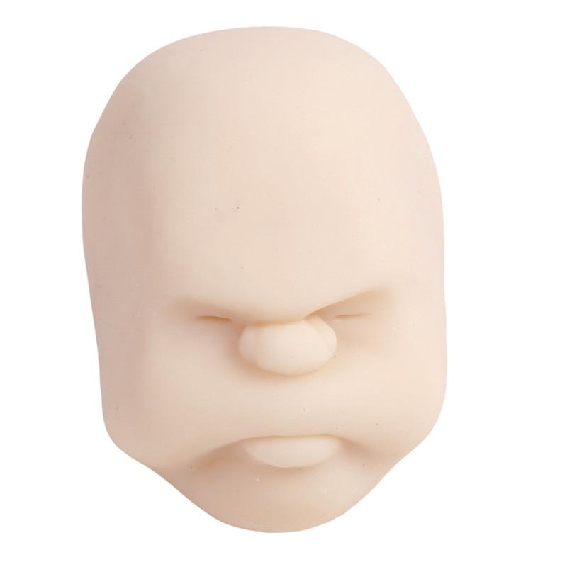 Забавная Новинка каомару, антистрессовая игрушка с мячом, с человечеловеческим лицом, удивище, сюрприз, эмоция, шар из смолы, расслабляющая, для взрослых, игрушка для снятия стресса, подарок - Цвет: White 2
