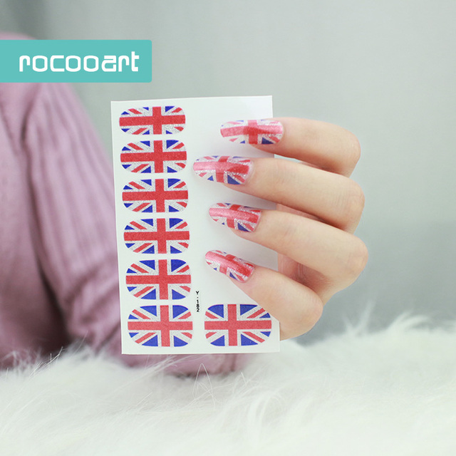 Y5182 Eco Friendly Trendy Self Adhesive Nail Art Decals Full