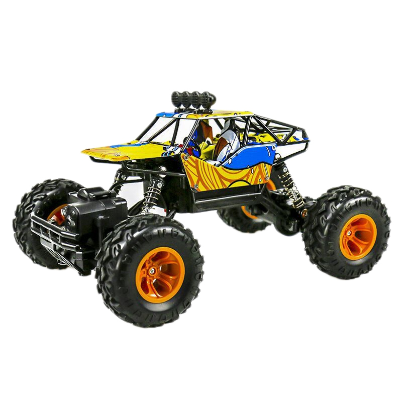 1 16 2 4Ghz Double Motors Off Road Remote Control Rc Buggy Bigfoot Climbing Car Vehicle Toys Alloy Body Shell Rock Crawler 4Wd in Ride On Cars from Toys Hobbies