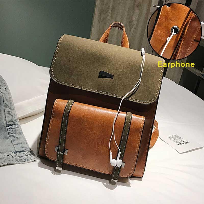 Femmes sac à dos femme PU cuir marque sac à dos collège sacs à dos Vintage étudiant cartable rétro sac à dos sacs à bandoulière 7816