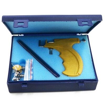 Профессиональный набор инструментов для пирсинга, Сережки для пирсинга, Сережки для пирсинга носа, Сережки для пирсинга, сережки для пирсинга, Сережки для пирсинга - Окраска металла: 1 Ste Yellow Gun
