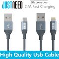 JUSTNEED MFi certified USB Cable Fast Charger Data Sync for iphone 5 ipad Compatible iOS 9 Samsung Galaxy S3 S4