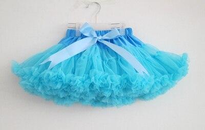 ; пышные шифоновые юбки-американки для малышей; 21 цвет; юбки-пачки для девочек; фатиновая юбка принцессы для танцевальной вечеринки; Нижняя юбка; - Цвет: sky blue
