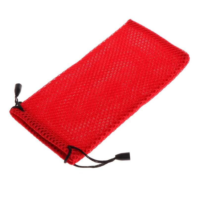 Portable Mesh Plaid Sunglasses Eyeglasses Cloth Storage Bag Glasses Pouch Case