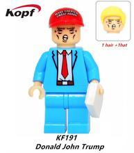 KF191 Super Heróis Bonecos Engraçados Donald John Trump Com Dois Chapéu cor Modelo de Blocos de Construção Tijolos Simpson Batman Caçoa o Presente brinquedos
