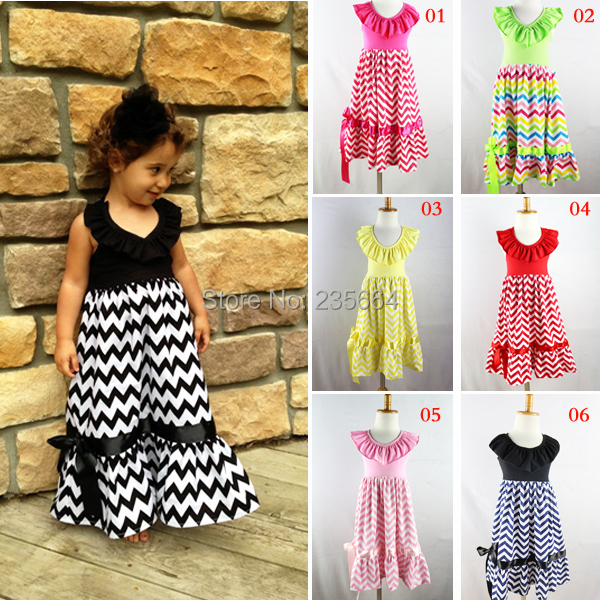 Promotion Draped Hot Sale!retail Girls Dress Chevron Maxi Dresses,adorable Cotton Halter For Summer Girl 1-8 Age Kids Beach hot sale halter beading sequins short homecoming dress