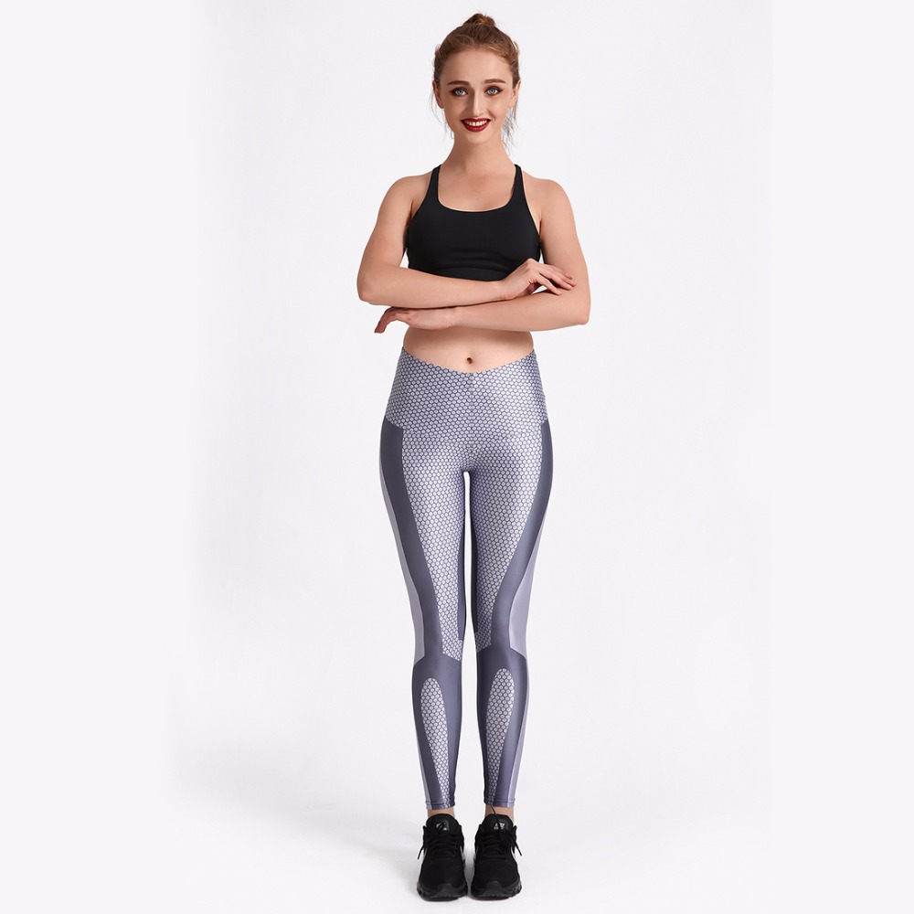 New Gradient Colors Fitness Women Yoga Pants XS To XL Grey