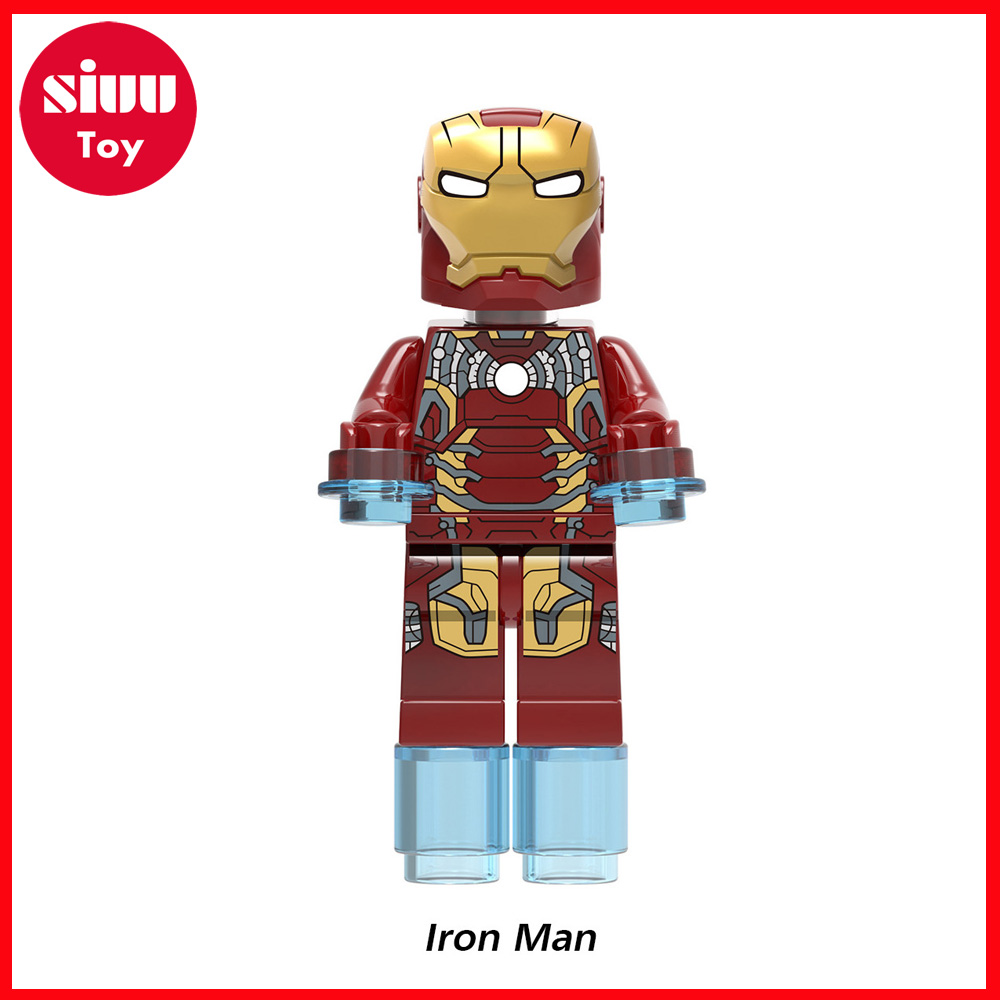 Boy Assembled Building Blocks Mavels Avengers 3 Super Heros Spider-Man Thor Iron Man Doctor Strange Educational Toys DIY Model