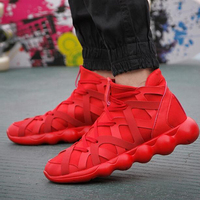 Sports Running Shoes Men Women Sneakers Air Mesh Breathable Light Lovers Walking Flywire Student Couples Flats