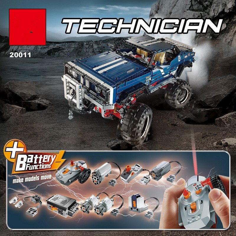 the 20011 the technic 41999 Car remote control electric off road vehicles Model building block Bricks