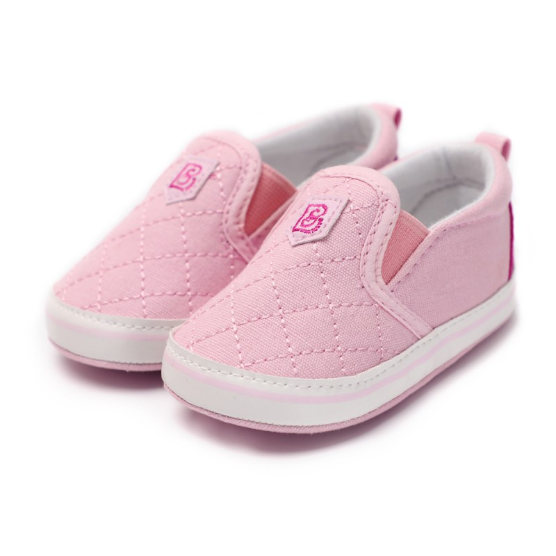 Spring Baby Girls Elastic Band First Walkers Autumn Indoor Shoes Soft Sole Bottom Shoes For Newborns