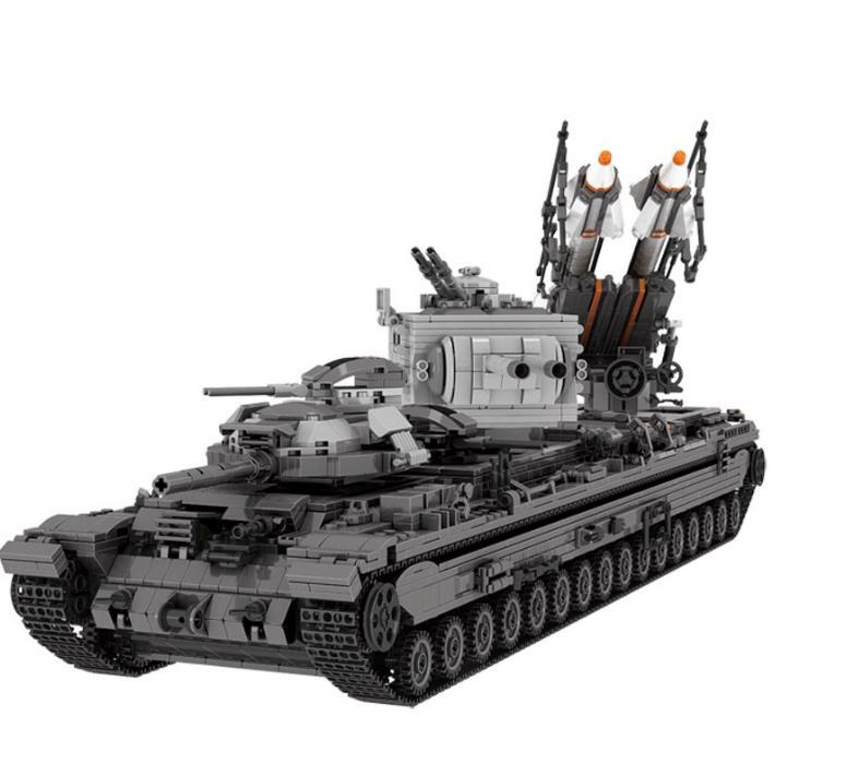 US $159 8 |06006 New Creative Military kv 2 Tank Missile Truck Model  Building Blocks Educational Bricks For Children DIY Toys Dream-in Blocks  from