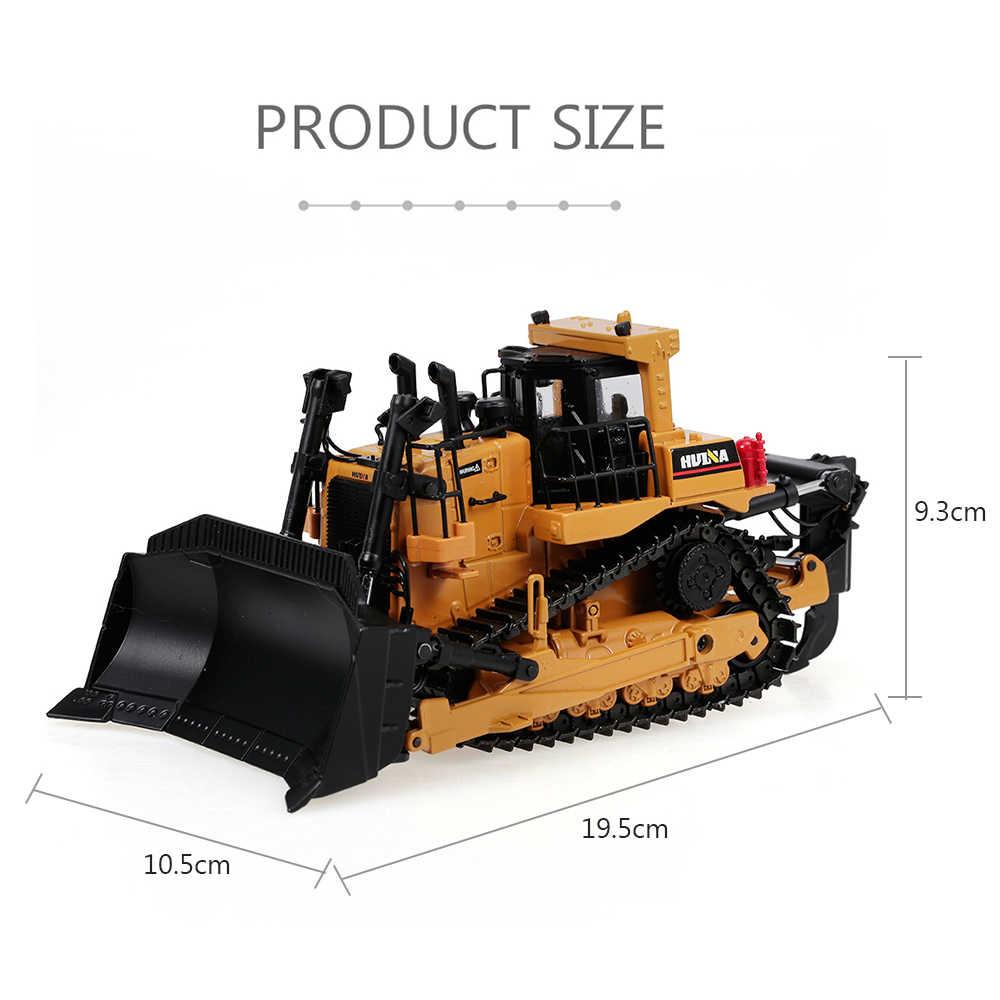 1:50 Die-Cast Paduan Bulldozer Berat Teknik Truk Statis Model Wheel Caterpillar Bulldozer Mainan Pendidikan untuk Anak-anak