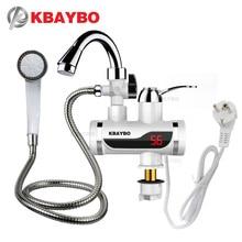 3000 Вт Температура Дисплей instant hot водопроводной воды tankless Электрический кран Кухня мгновение горячий кран водонагреватель нагрева