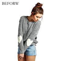 BEFORW Women Pullover Sweater 2017 Korean Winter New Fashion Warm High Quality More Solid Colors Christmas