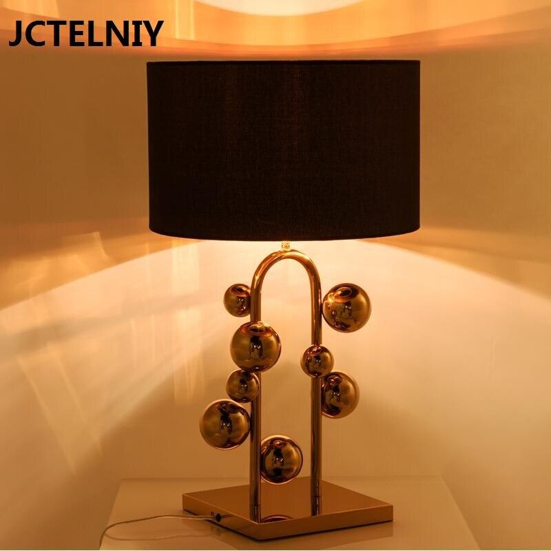 Современные светодиодный настольная лампа покрытием мяч золотой пузырь модель номер роскошь свет гостиной спальня лампа
