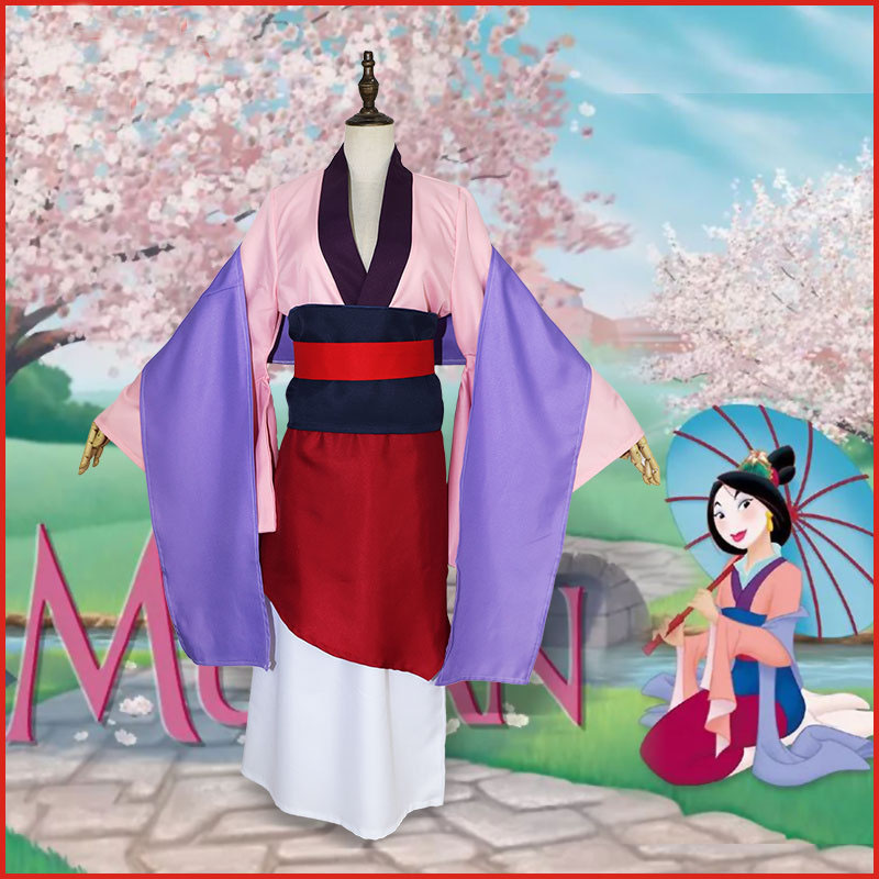2019 Hua Mulan Blue Dress Mulan Princess Dress Cosplay Costume Fancy Dress LL