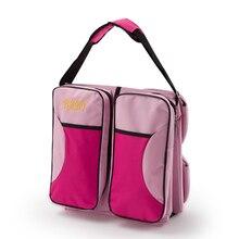 Многофункциональная Складная портативная детская кроватка, Большая вместительная сумка для мамы, посылка для матери и ребенка, 2 в 1 посылка для путешествий
