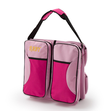 Multifunctional foldable portable baby crib bed large capacity Mummy bag maternal and child package travel 2 in 1 package