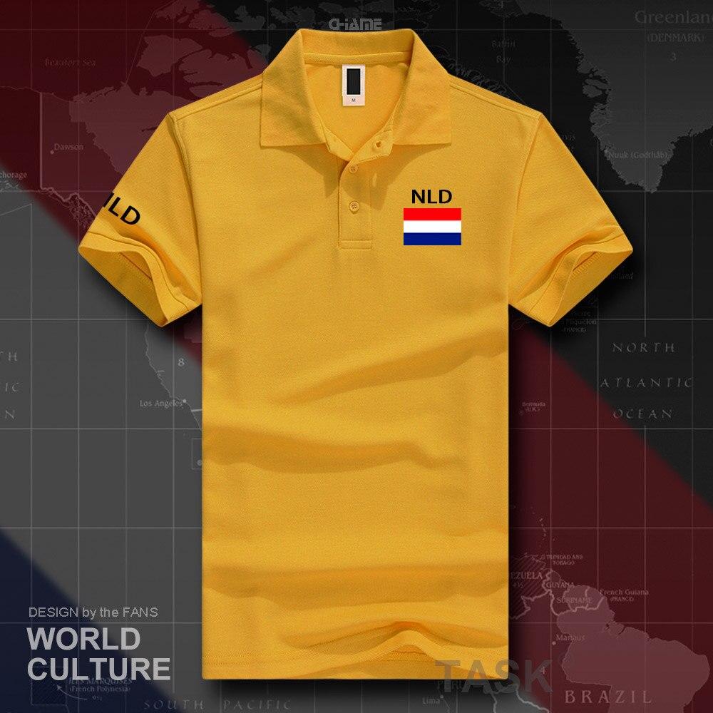 Netherlands Dutch polo shirts men short sleeve white brands printed for country 2019 nation team flag Nederland Holland NLD NL 4
