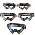New Goggle Tinted UV Stripe Motorcycle Goggles Motocross Bike Cross Country Flexible Goggles Motorcycle Riding Glasses