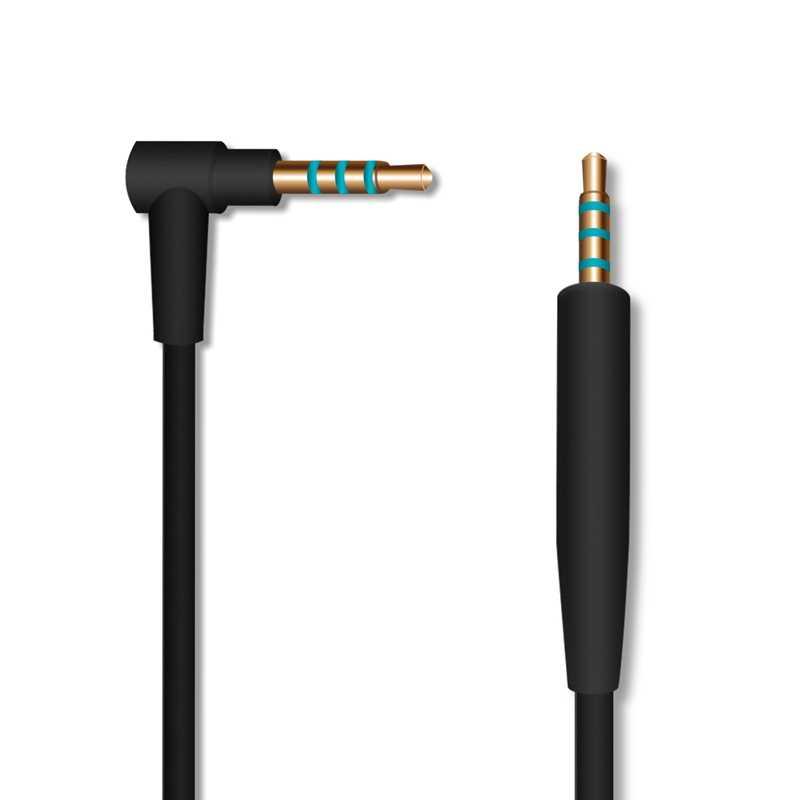 Cable de Audio LEORY para Bose QC25 Cable de auriculares silencioso y cómodo de 2,5mm a 3,5mm con micrófono Control de volumen 1,5 m