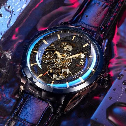 IK colouring New luminous waterproof watch male mechanical watch men's watch stainless steel belt automatic mechanical watch