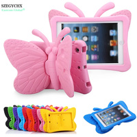3D Cartoon Butterfly Stand Shockproof Case For Apple IPad Mini 1 2 3 4 Table Cover
