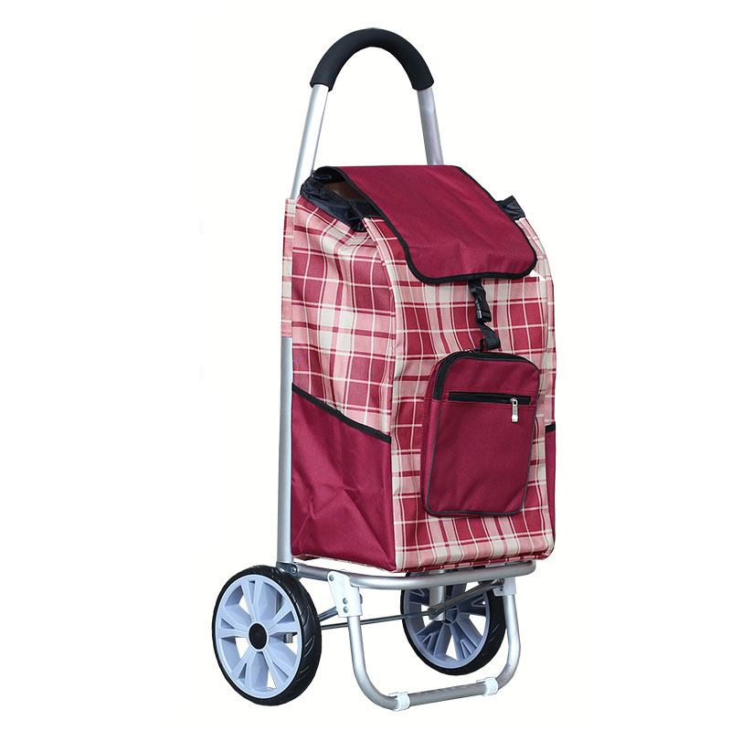 Large Size Aluminum Alloy Shopping Cart with Oxford Cloth Bag High Quality Foldable Luggage Climbing Cart