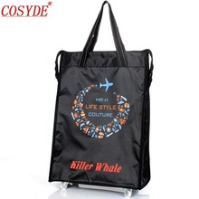 Cosyde Women Men Travel Bag Collapsible Ladies Shopping Bag Grocery Puller Trolley Bag Wheel Bag Portable Storage Shopping Cart