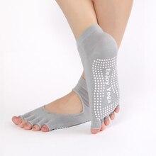 1Pair Women Yoga Socks Half Toe Non Slip Ladies Massage Sport Socks Half-fingers Cotton Warm Exercise Running Hose Fitness Home