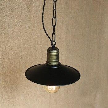 IWHD hierro LED luces colgantes estilo Loft Vintage Industrial lámpara colgante negro...