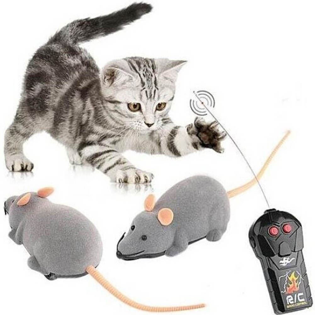 Color Random New RC Wireless Simulatio Remote Control Rat Mouse Toy For Cat Dog Pet Novelty
