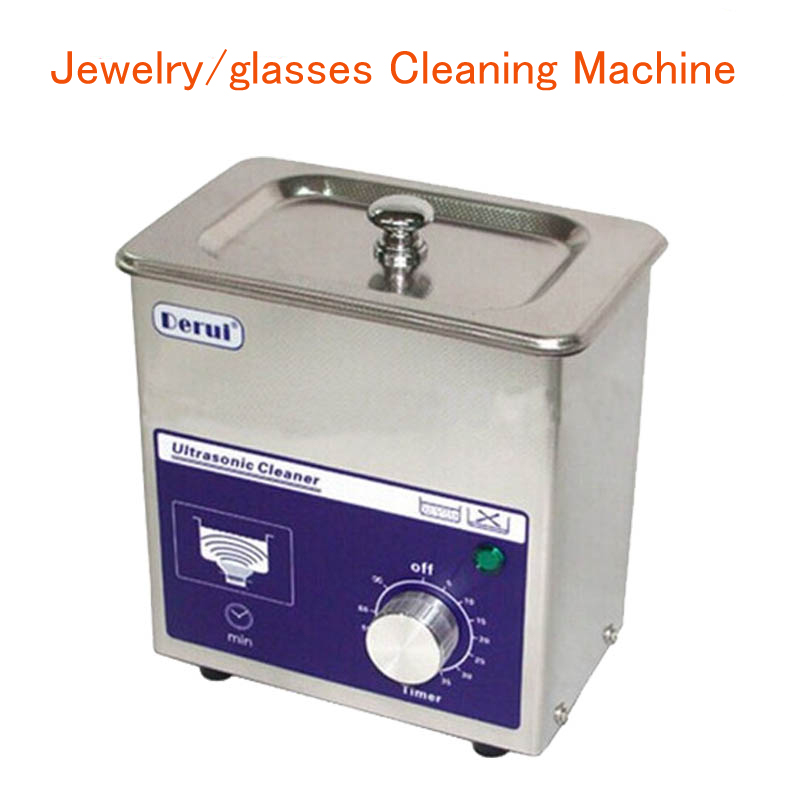 Ultrasonic Cleaner 80W Jewelry Ultrasonic cleaner Jewelry/Dental/glasses Cleaning Machine DR-MS07 4pc lot dr ms07 220v stainless steel dual 60w ultrasonic cleaner machine with display for jewelry glasses circuit board