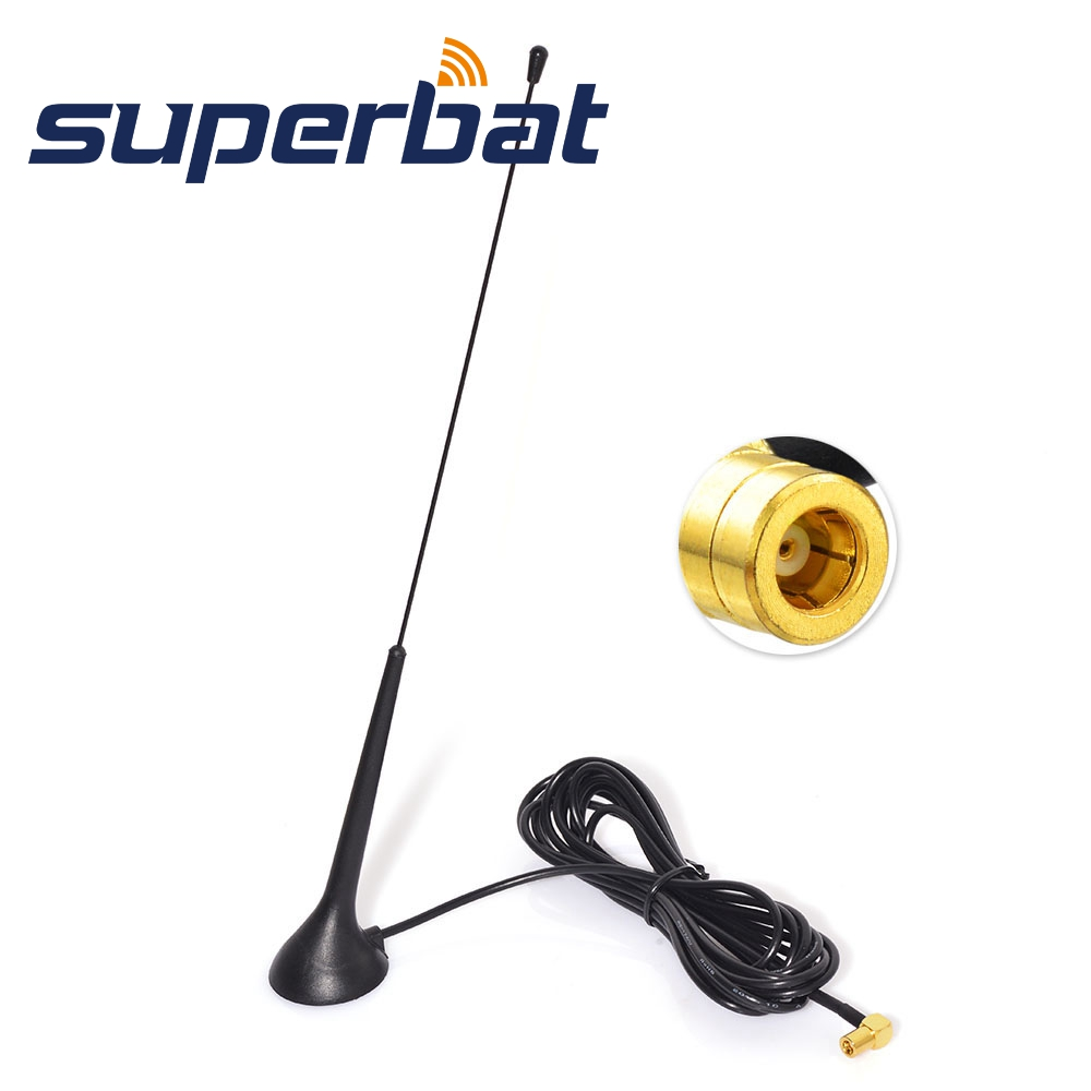 Superbat DAB/DAB+/FM/AM Car Radios Aerial Magnetic Mount DAB Aerial Antenna SMB Connector 3M Coaxial Cable For Pioneer