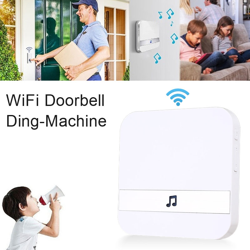 Plug-In Chime 433.0MHz Voice Tips Universal Visual Doorbell Chime White House Wifi Doorbell Chime Market Waterproof