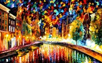 Painting for sale Colorful oil paintings Canvas coming back amsterdam Modern Wall Art Home Decor High quality Handpainted