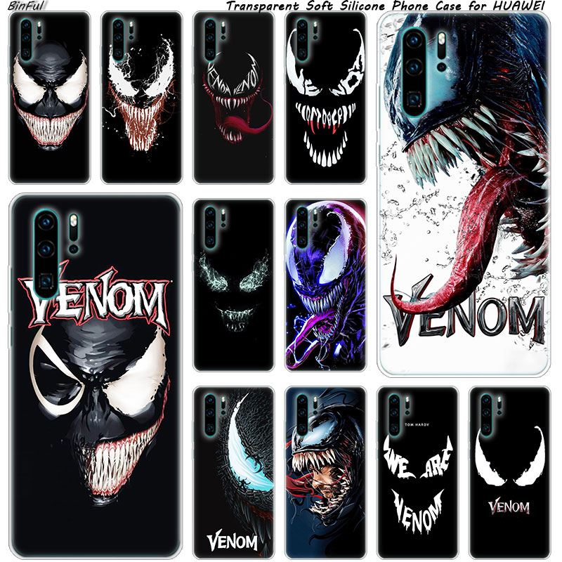 Hot Venom <font><b>Marvel</b></font> Soft Silicone <font><b>Phone</b></font> <font><b>Case</b></font> for Huawei P30 P20 Pro P10 P9 P8 Lite 2017 P Smart Z Plus 2019 NOVA 3 3i Fashion Cover image