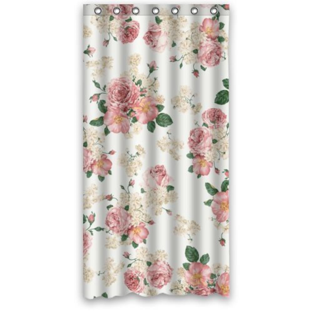 Vintage Design Nuovo Stile Romantico Fiore di Rosa Poliestere Bagno ...