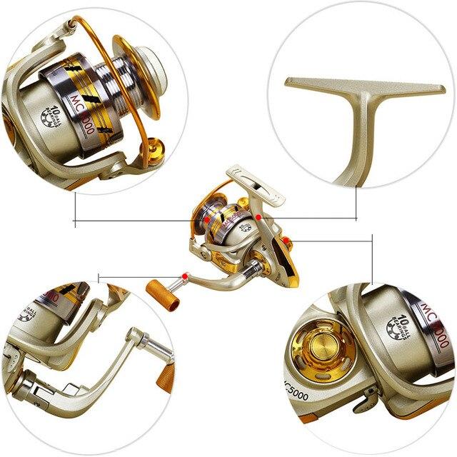 Haute Qualité YUMOSHI 10BB 5.5 1 Repoussage Moulinets De Pêche Volant Pour Frais/Sel Pêche en Eau Outil accessoires