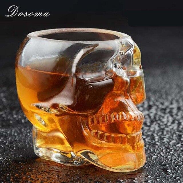 DOSOMA 100 Ml Personnalisé Guerrier Crâne Tasses Couple Whisky Verre De Vin  Tasses Gothique Barware Verres