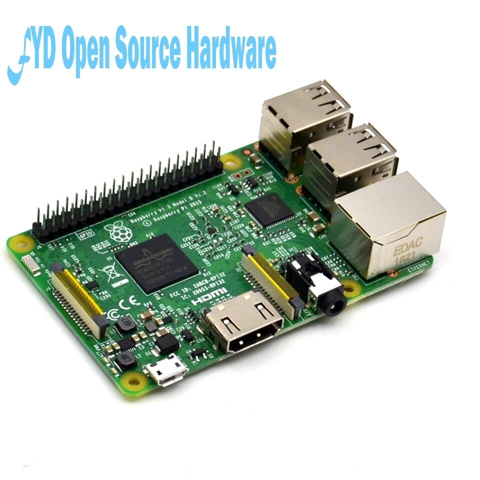 2018 nouvelle carte d'origine Raspberry Pi 3 modèle B 1 GB LPDDR2 BCM2837 Quad-Core Ras PI3 B, Ras PI 3B, Ras PI 3 B avec WiFi et Bluetooth