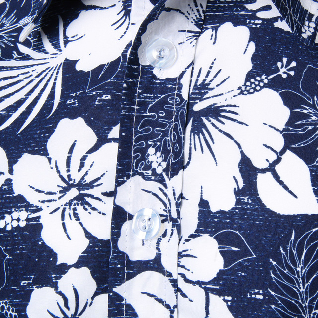 Mens Summer Beach Hawaiian Shirt 2018 Brand Short Sleeve Plus Size Floral Shirts Men Casual Holiday Vacation Clothing Camisas 3