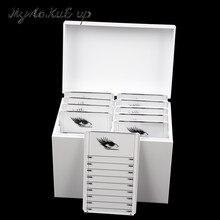 ขนตาปลอมกล่องเก็บ 10 ชั้นอะคริลิคพาเลท Lash ผู้ถือแต่ละ lash Volume จอแสดงผลสำหรับ Eyelash Extension เครื่องมือ