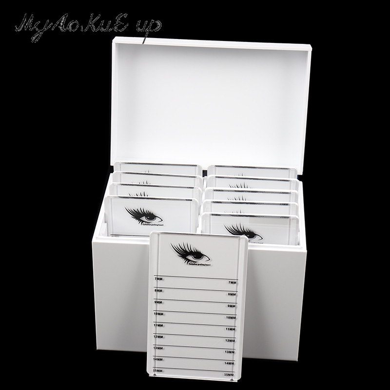 Clear Eyelashes Storage Box 10 Layers Acrylic Pallet Lash Holder Individual Lash Volume Display Stand For Eyelash Extension Tool