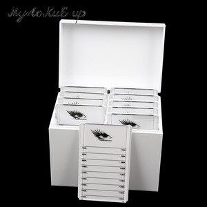 Image 1 - Clear Eyelashes Storage Box 10 Layers Acrylic Pallet Lash Holder Individual lash Volume Display Stand For Eyelash Extension Tool