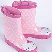Hello Kitty Rubber Rain Boots Children Girls font b Kids b font Rain Boots Boys Baby
