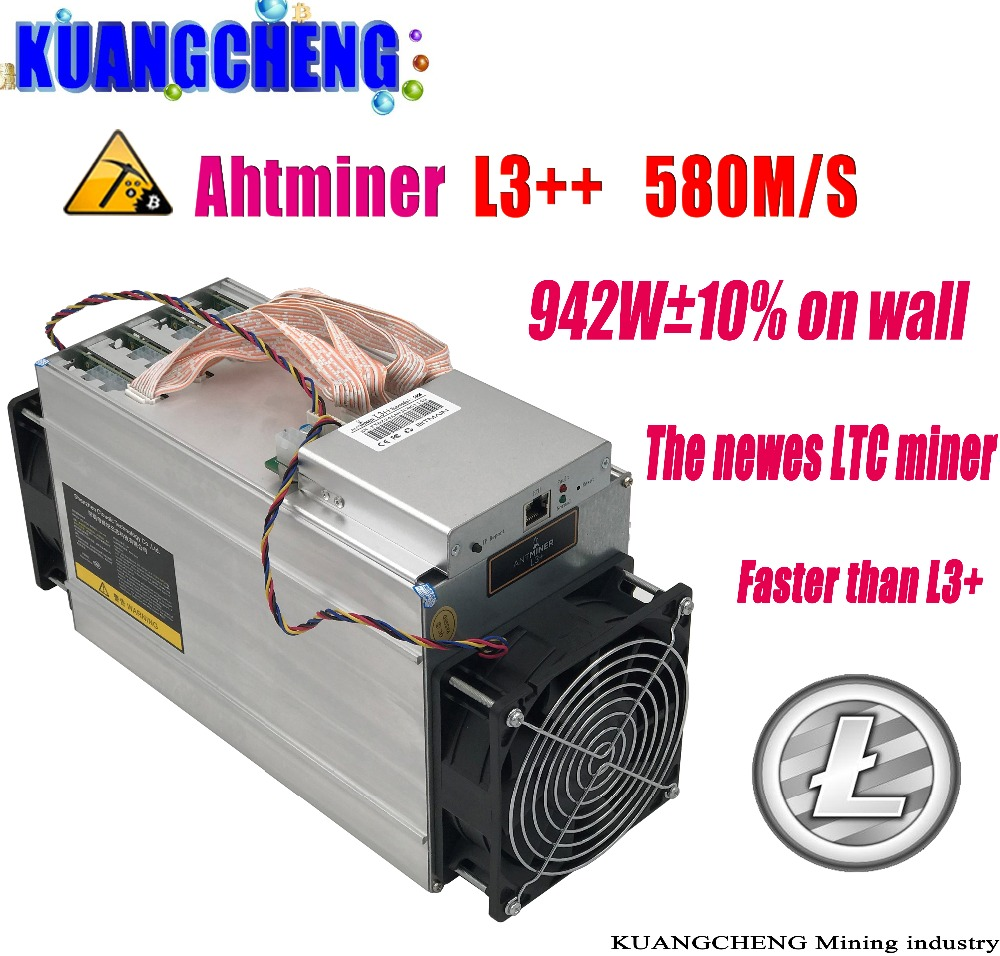 KUANGCHENG ASIC Chip Miner ANTMINER L3++ 580M (NO PSU) Scrypt Miner LTC Litecion Mining Machine Better Than ANTMINER L3+ newest asic chip miner antminer l3 580m scrypt miner ltc litecion mining machine upgrate version antminer l3 no psu